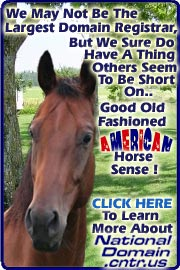 A Free Domain Name With Your National Domain Center Is Just Plain Good Horse Sense!